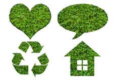 Grupo do ícone de Eco Imagens de Stock