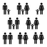 Grupo do ícone de famílias ilustração royalty free