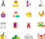 Grupo do ícone de França Foto de Stock