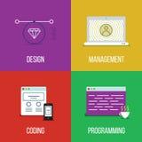 Grupo do ícone de Infographic Fotografia de Stock