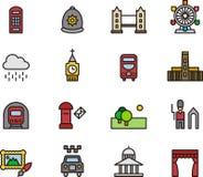 Grupo do ícone de Londres Imagem de Stock Royalty Free