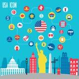 Grupo do ícone de New York Foto de Stock Royalty Free