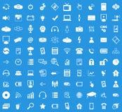Grupo do ícone de 100 Olá!-tecnologias Fotos de Stock Royalty Free