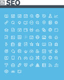 Grupo do ícone de SEO Imagem de Stock