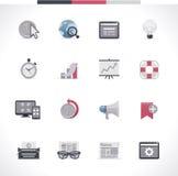 Grupo do ícone de SEO. Parte 2 Imagens de Stock
