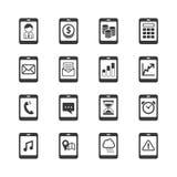 Grupo do ícone de Smartphone Fotografia de Stock