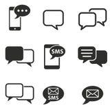 Grupo do ícone de SMS Foto de Stock Royalty Free
