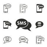Grupo do ícone de SMS Fotografia de Stock Royalty Free