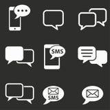 Grupo do ícone de SMS Imagem de Stock Royalty Free