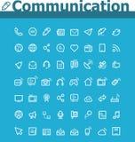 Grupo do ícone de uma comunicação Imagens de Stock Royalty Free