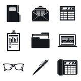 Grupo do ícone do dia de contabilidade, estilo simples ilustração stock