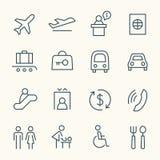 Grupo do ícone do aeroporto Imagens de Stock Royalty Free