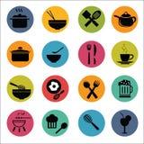 Grupo do ícone do alimento Imagem de Stock Royalty Free