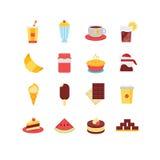 Grupo do ícone do alimento Foto de Stock Royalty Free