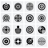 Grupo do ícone do alvo do vetor Fotos de Stock