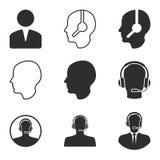 Grupo do ícone do auxílio Imagens de Stock Royalty Free