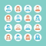 Grupo do ícone do Avatar, simples Foto de Stock