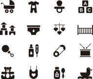 Grupo do ícone do bebê e das crianças Imagens de Stock
