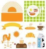 Grupo do ícone do café da manhã do vetor Imagens de Stock Royalty Free
