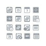 Grupo do ícone do calendário Fotografia de Stock