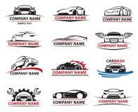 Grupo do ícone do carro ilustração do vetor