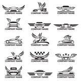 Grupo do ícone do carro ilustração stock