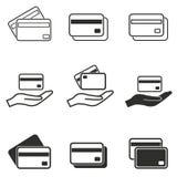 Grupo do ícone do cartão de crédito Imagens de Stock Royalty Free