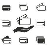 Grupo do ícone do cartão de crédito Imagem de Stock Royalty Free