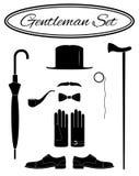 Grupo do ícone do cavalheiro Imagem de Stock Royalty Free