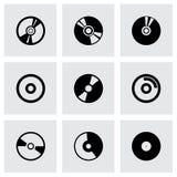 Grupo do ícone do CD do vetor Fotos de Stock Royalty Free