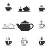 Grupo do ícone do chá Fotos de Stock Royalty Free