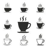 Grupo do ícone do chá Imagens de Stock Royalty Free