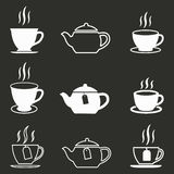 Grupo do ícone do chá Imagem de Stock