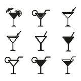 Grupo do ícone do cocktail Foto de Stock Royalty Free