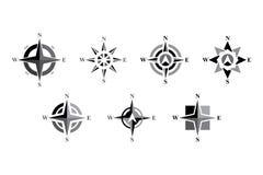 Grupo do ícone do compasso Imagem de Stock Royalty Free