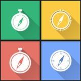 Grupo do ícone do compasso Fotografia de Stock