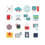 Grupo do ícone do computador Fotografia de Stock