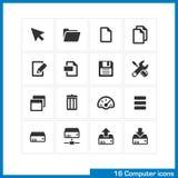 Grupo do ícone do computador Imagens de Stock Royalty Free