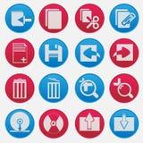 Grupo do ícone do computador pessoal Foto de Stock Royalty Free
