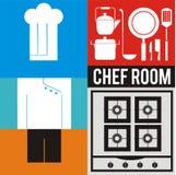 Grupo do ícone do cozinheiro chefe Fotos de Stock Royalty Free