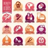 Grupo do ícone do cuidado da beleza ilustração do vetor