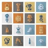 Grupo do ícone do dia da mulher Foto de Stock