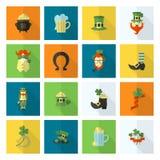 Grupo do ícone do dia de Patricks de Saint Imagens de Stock