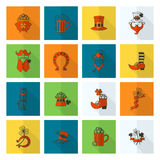 Grupo do ícone do dia de Patricks de Saint Fotos de Stock Royalty Free