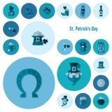 Grupo do ícone do dia de Patricks de Saint Fotografia de Stock Royalty Free