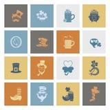 Grupo do ícone do dia de Patricks de Saint Imagens de Stock Royalty Free