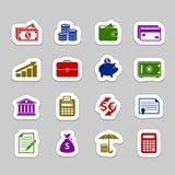Grupo do ícone do dinheiro Imagem de Stock Royalty Free