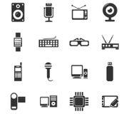 Grupo do ícone do dispositivo Imagem de Stock