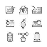 Grupo do ícone do dispositivo médico de sala de operações Imagens de Stock
