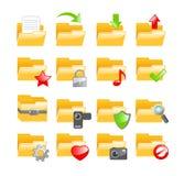 Grupo do ícone do dobrador Imagem de Stock